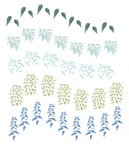 さまざまな草のシェイプ