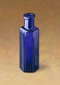 コバルトブルー 六角ビン