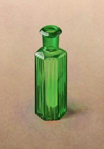 緑の六角ビン
