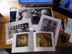 エッシャー展の図録とポスター