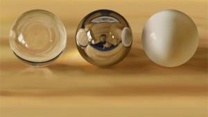 3質感球のデジタルデッサン