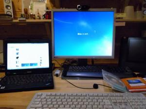 Windows7インストール中