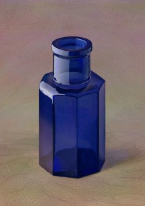コバルトブルー八角ビン
