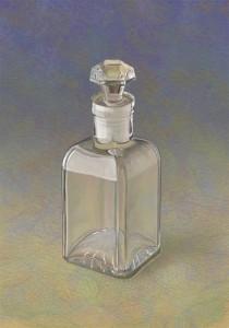 ふた付き透明ビン